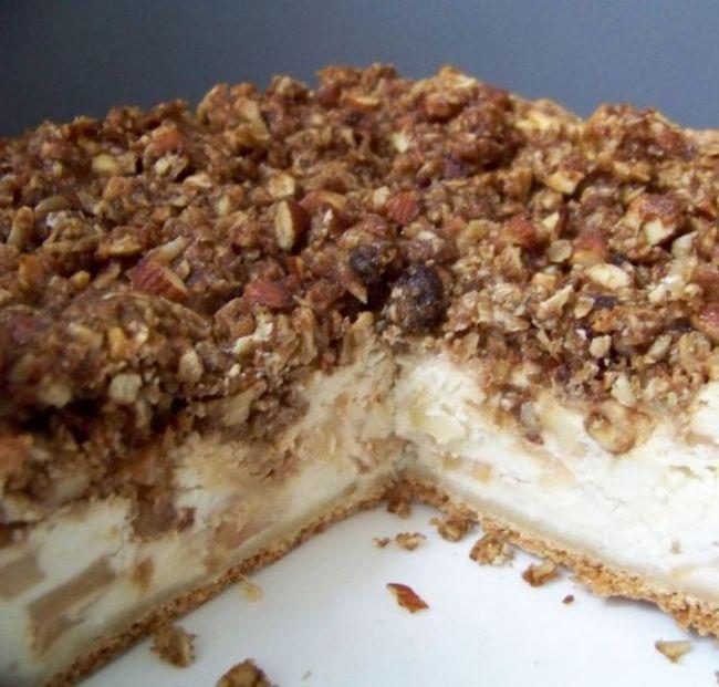 Ванільний яблучно-сирний пиріг