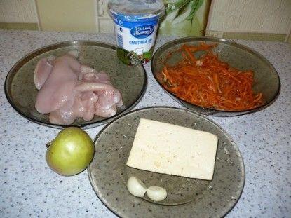 Підготуємо необхідні інгредієнти супу з кукурудзою і плавленим сиром